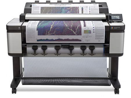 HP DesignJet T3500 multifunctionele printer vooraanzicht